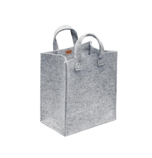 "$60.00 Home Bag Med 12"" x 8"" x 14"" Grey Felt"