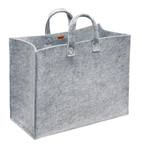 "$84.00 Home Bag Lg 16"" x 10"" x 20"" Grey Felt"