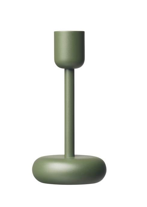 """$40.00 Candleholder 7.25"""" Moss Green"""