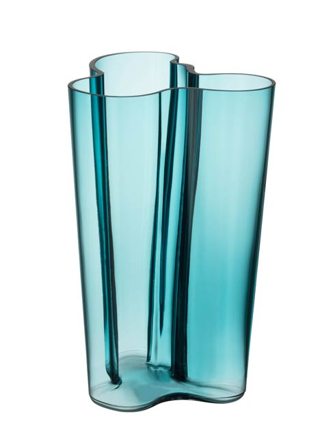 "$176.00 Finlandia Vase 10"" Sea Blue"