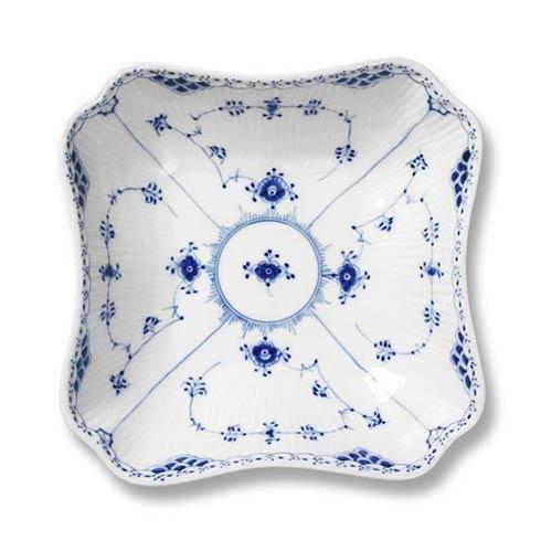 Royal Copenhagen  Blue Fluted Half Lace Square Bowl $300.00