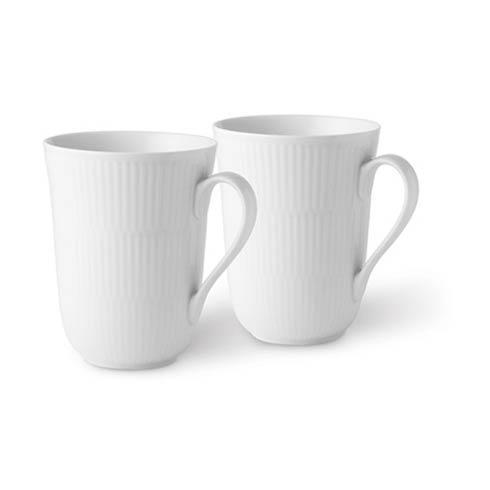Royal Copenhagen  White Fluted Mug Set/2 $70.00