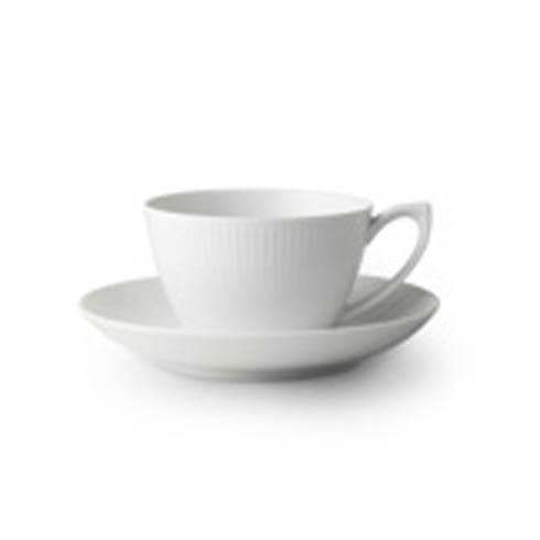 Royal Copenhagen  White Fluted Tea Cup & Saucer $55.00
