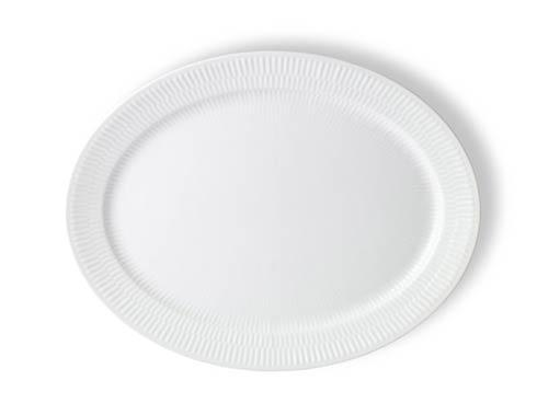 Royal Copenhagen  White Fluted Oval Platter $74.00