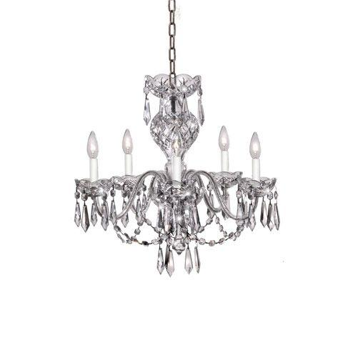 $5,525.00 Comeragh Chandelier  5 Arm Gold Finish