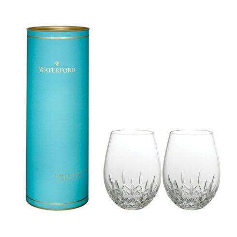 Waterford  Lismore Nouveau Stemless Deep Red Wine, Pair $120.00