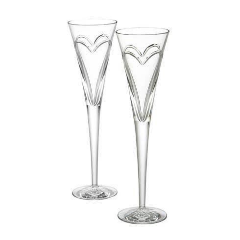 $150.00 Wishes Love & Romance Toasting Flutes, Set of 2
