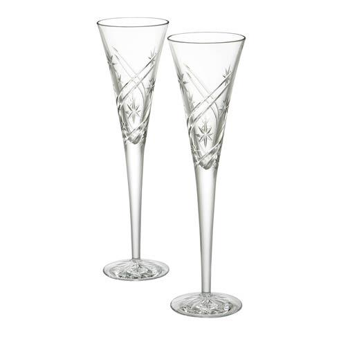 Waterford  Toasting Flutes Achievements Toasting Flutes, Pair $135.00