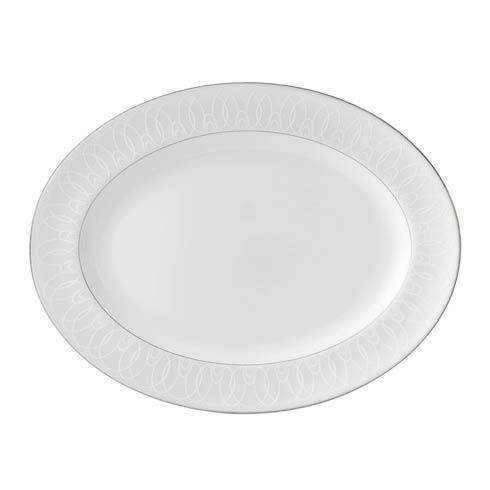 Waterford  Ballet Icing Pearl  Pearl Oval Platter $185.00
