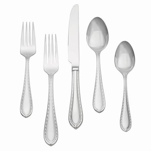 $65.00 Stainless 5-Piece Place Setting