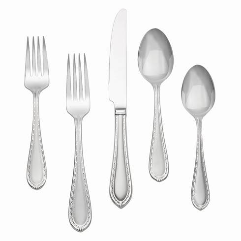 Matte Stainless 5-Piece Place Setting