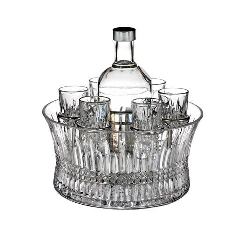 Vodka Set in Chill Bowl with Silver Insert