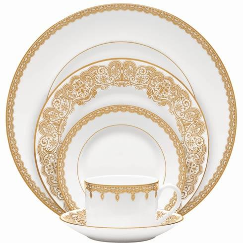Waterford  Lismore Lace Gold Gold 5 Piece Place Setting $140.00