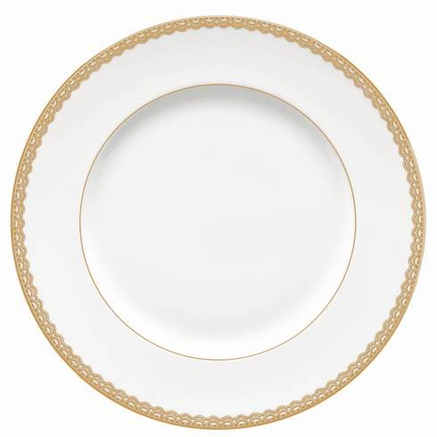 Waterford  Lismore Lace Gold Gold Dinner Plate $41.00