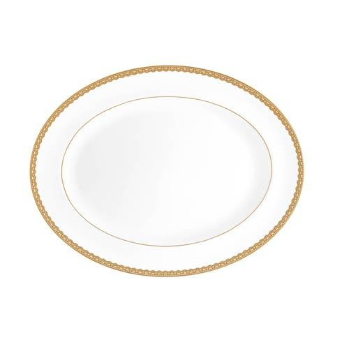Waterford  Lismore Lace Gold Gold Platter 15.5
