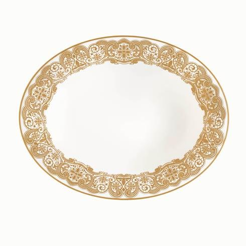 Waterford  Lismore Lace Gold Open Vegetable Bowl $155.00