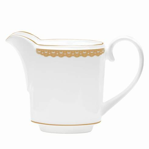 Waterford  Lismore Lace Gold Gold Creamer $110.00
