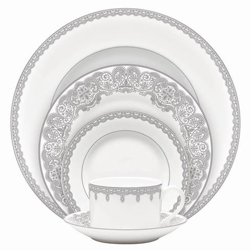 Waterford  Lismore Lace Platinum Formal Dinnerware 5 Piece Place Setting $140.00
