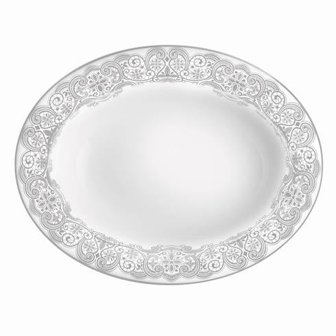 Waterford  Lismore Lace Platinum Formal Dinnerware Vegetable Dish $155.00