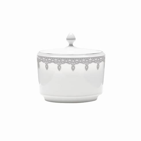 Waterford  Lismore Lace Platinum Formal Dinnerware Sugar Bowl Covered $135.00