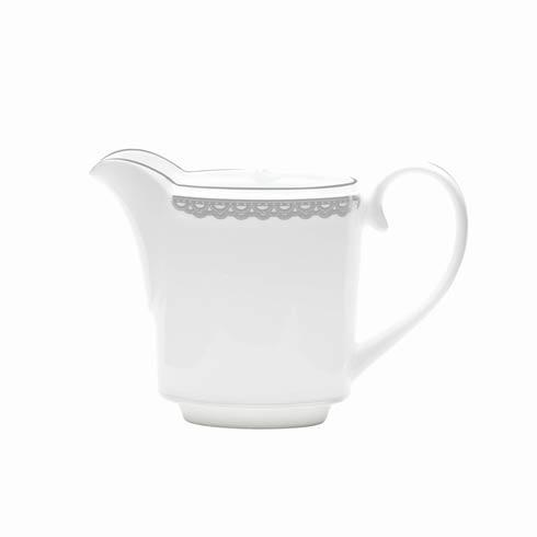 Waterford  Lismore Lace Platinum Formal Dinnerware Creamer $110.00