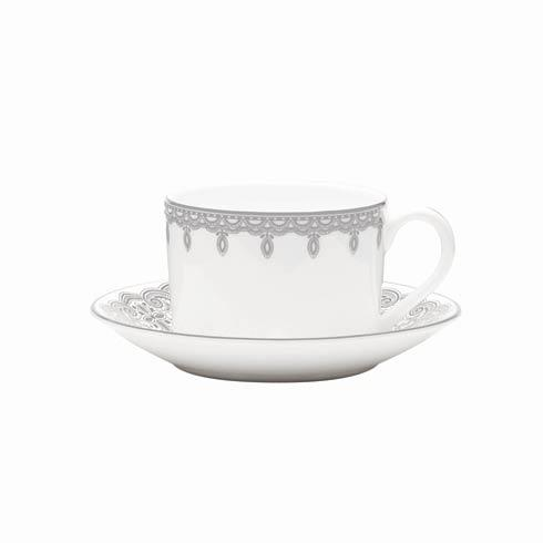 Waterford  Lismore Lace Platinum Formal Dinnerware Teacup & Saucer $48.00