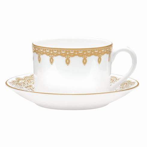 Waterford  Lismore Lace Gold Gold Teacup and Saucer $48.00