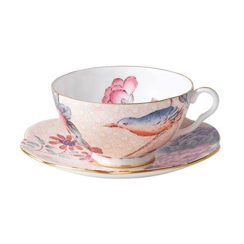 $44.95 Teacup & Saucer Set Peach