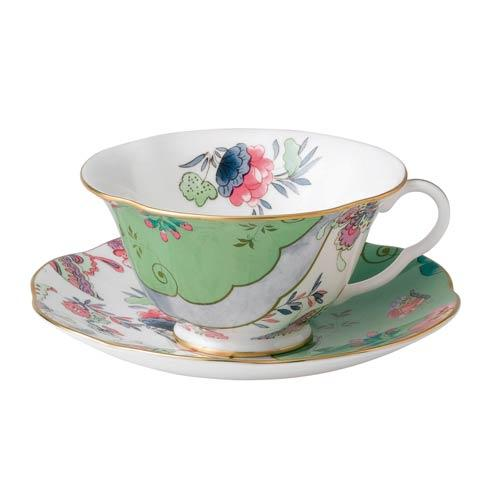 $56.25 Teacup & Saucer Set Butterfly Posy