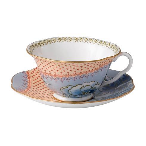 $52.00 Teacup & Saucer Set Blue Peony
