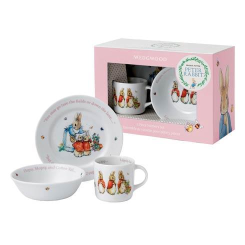 Girl'S 3-Piece Set (Plate, Bowl & Mug)