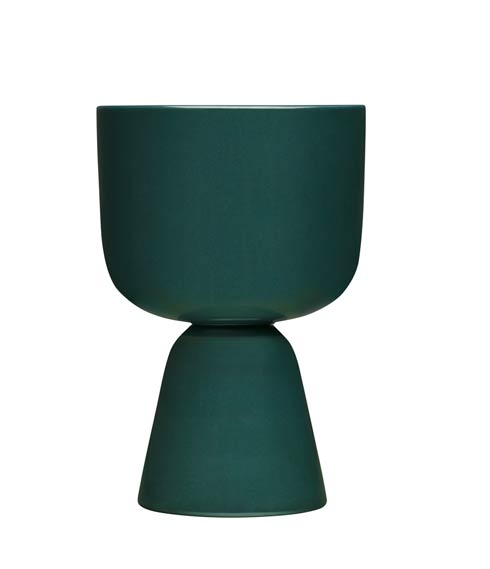 $75.00 Dark Green Plant Pot – 9 X 6""