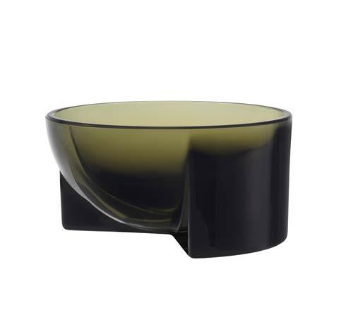 """$72.00 Moss Green Glass Bowl – 5 X 2.25"""""""