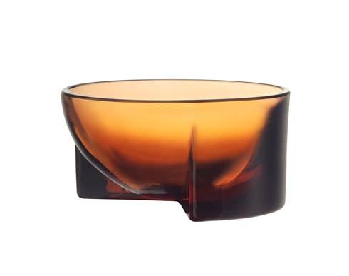 "$72.00 Seville Orange Glass Bowl – 5 X 2.25"""