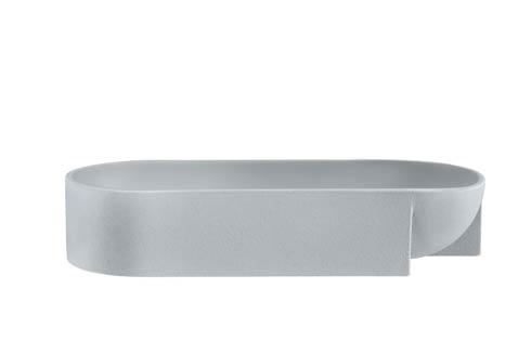"$215.00 Light Grey Ceramic Bowl – 14.5 X 3"""