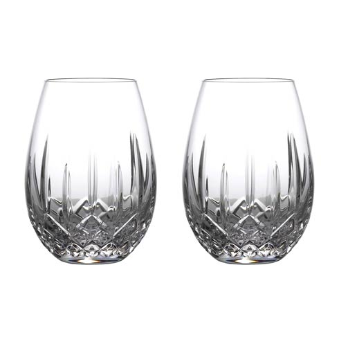 $108.00 Stemless Wine Light Red, Set of 2