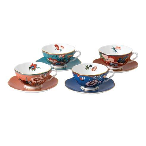 Wedgwood  Paeonia Blush Teacup & Saucer Set/4 $240.00