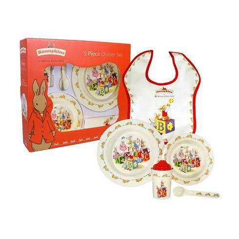 $41.00 Melamine Nurseryware 5-Piece Set (Bowl, Cup, Plate, Spoon, Bib)
