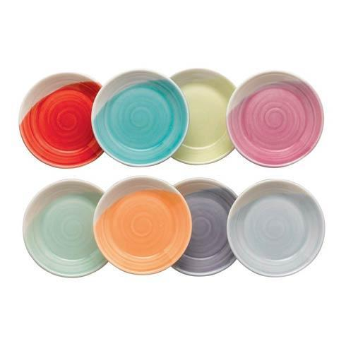 """$32.99 Dip Trays(Mixed Patterns)  3.5"""" Set/8"""
