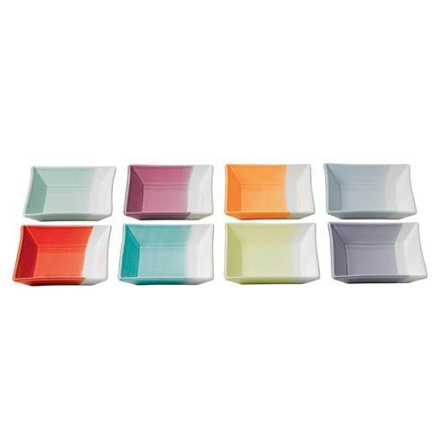 $47.20 Square Trays(Mixed Patterns)  Set/8