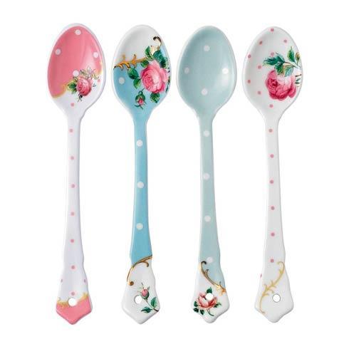 $44.00 Vintage Mix Set/4 Ceramic Spoons
