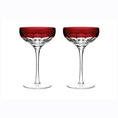 Waterford  Mixology Talon Red Coupe, Set of 2 $175.00