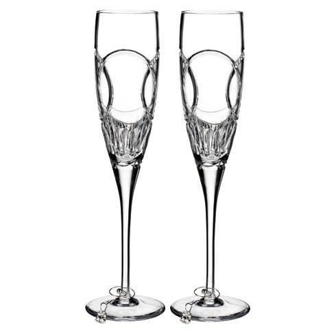 $150.00 Waterford Love Wedding Vows Flute, Set of 2