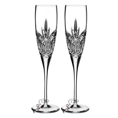 $150.00 Waterford Love Forever Flute, Set of 2