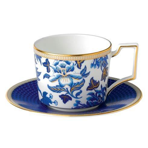 Wedgwood  Hibiscus Teacup & Saucer Set $60.00