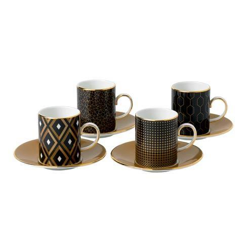 $235.00 Accent Espresso Cup & Saucer Set/4