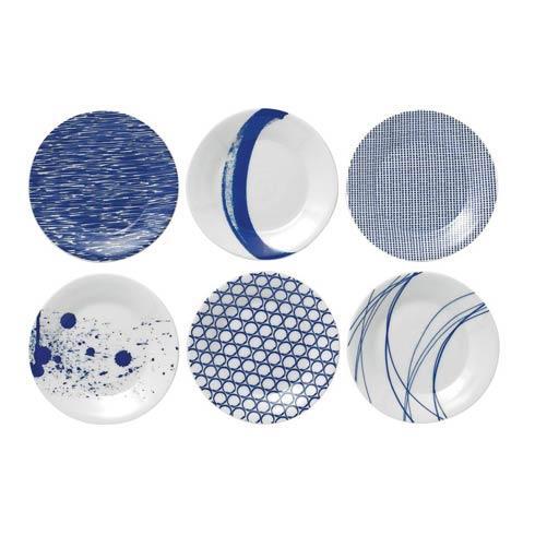 $42.00 Set Of 6 Tapas Plates (Mixed Patterns)