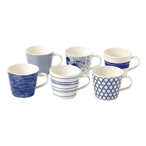 Royal Doulton  Pacific Mixed Patterns Set Of 6 Accent Mugs (Mixed Patterns) $63.00