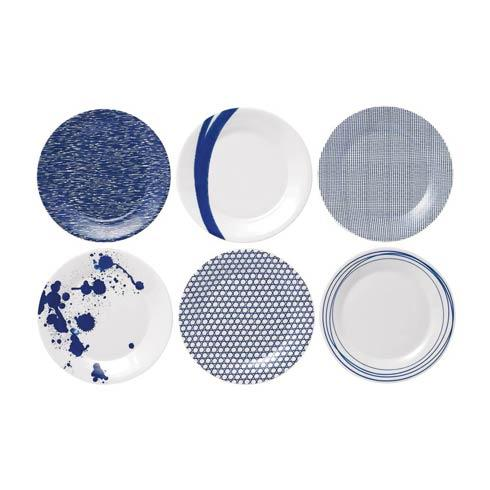 Royal Doulton  Pacific Mixed Patterns Set Of 6 Accent Plates (Mixed Patterns) $59.00