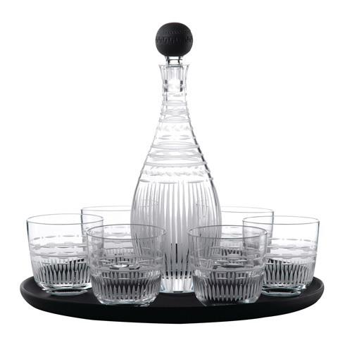 Decanter Set (Tray, Crystal Decanter 12.6